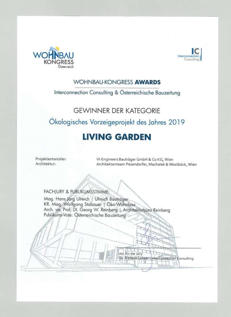 zertifikate auszeichnungen living garden 1